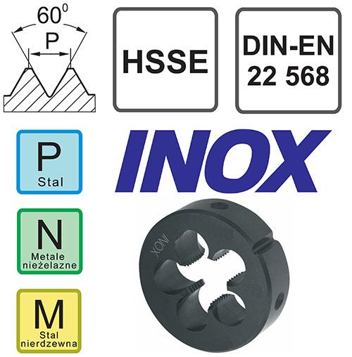 narzynka kobaltowa Inox do stali nierdzewnej